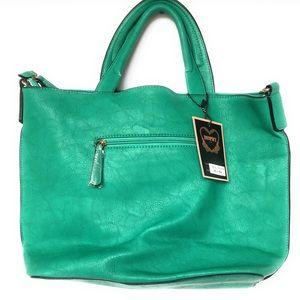 Diophy Two Strap handbag, green